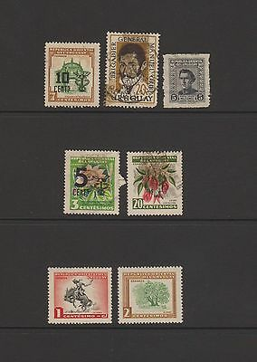 Uruguay - 7 used stamps  ( Lot 40 )