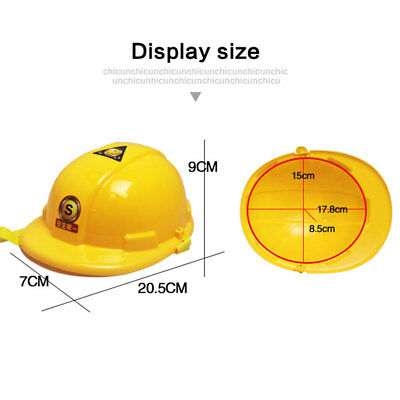 Kids Helmet Role Playing Construction Dress Up Simulation Safety Children