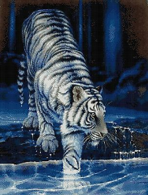 White Tiger First Dip - Counted Cross Stitch Chart
