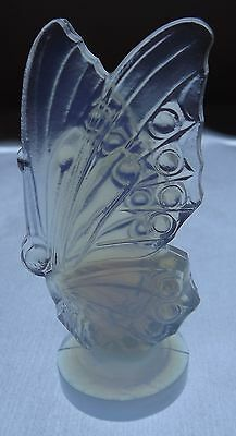 Vintage Sabino Opalescent Frosted Art Glass Closed Wing Butterfly French