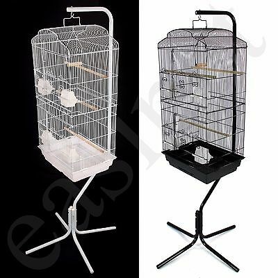Large Metal Bird Cage with Stand Budgie Canary Parakeet Cockatiel Finch Lovebird