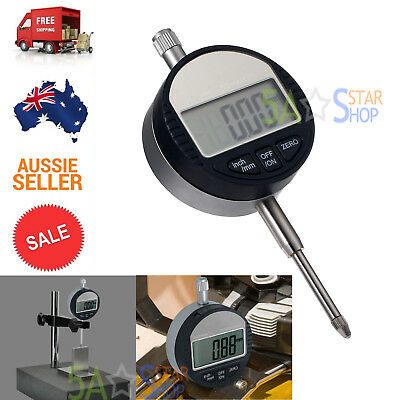 "Electric Digital Probe dial Indicator 0.01mm/.0005"" Range 0-25.4mm/1"" Gauge Tool"