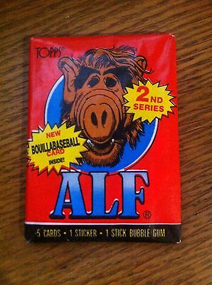 Alf  Series 2, Unopened / Sealed Wax Pack  Topps Trading Cards 1987