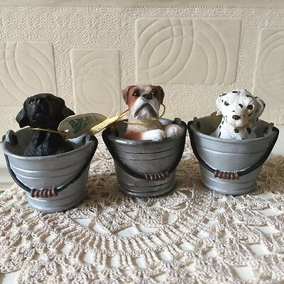 Vintage Regency Fine Arts Garden Friends Dog Collection x 3