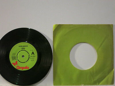 """UFO - Alone again or / Electric Phase 7"""" 1977 Chrysalis UK + Archive Date NMint"""