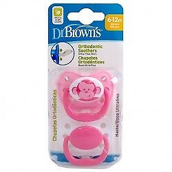 Dr. Brown's Chupete Orthodontic Silicona 6-12m 2 uds.
