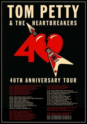 TOM PETTY & THE HEARTBREAKERS 40th Anniversary 2017 Tour PHOTO Print POSTER 003