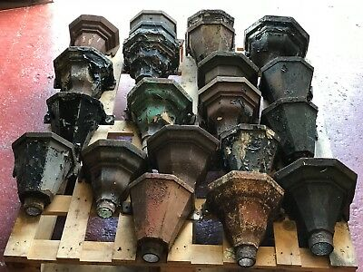Victorian Cast Iron Rain Water Hopper Garden Planter Salvage Original Paint