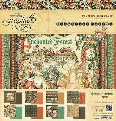 "G45 - Enchanted Forest - D/Sided Paper Pad 12""X12"" 24/Pkg"
