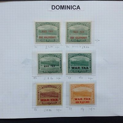 DOMINICA War Tax stamps
