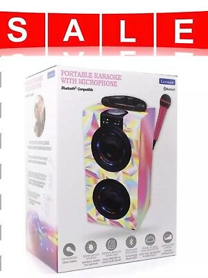 Lexibook Portable karaoke machine with microphone bluetooth pink