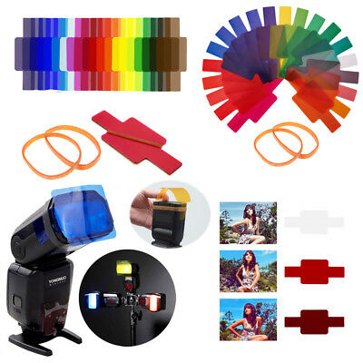 20pcs Flash Speedlite Color Gels Filters for Nikon Canon Yongnuo DSLR Camera