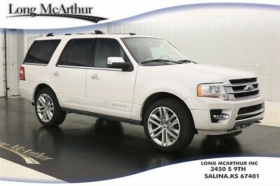 2017 Ford Expedition 4X4 PLATINUM WHITE NAV SUNROOF MSRP $69910 2ND ROW HEATED BUCKET SEATS, POWERFOLD 3RD ROW SEATS