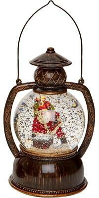 Christmas LED Santa Water Spinner Hurricane Lantern - PREMIER