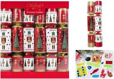 12 Luxury Soldier & Tree Christmas Crackers