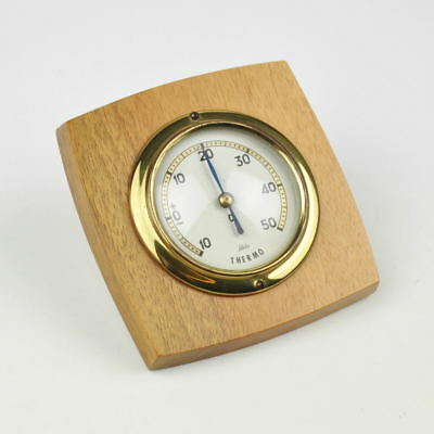 kleines Thermometer - Scholz Thermo - Vintage - Holz - Messing - Brass Wood
