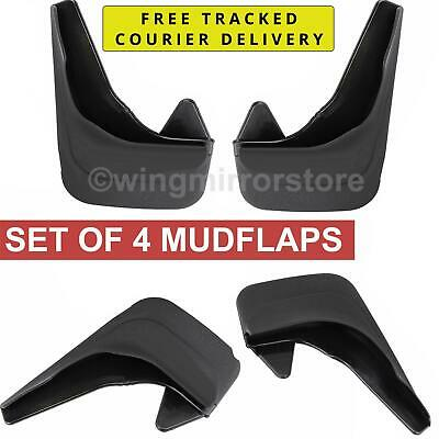 Rubber Moulded set of 4, Rear and Front Mud Flaps for Ford Focus