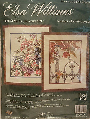 ELSA WILLIAMS EMBROIDERY KIT  NEW The Seasons - Summer / Fall 23 x 30cm