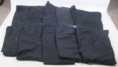 Ex Police Job Lot of 10 Plain Black Trousers Used Work Wear Security Wholesale