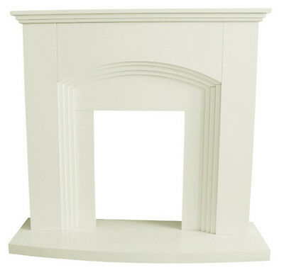 Traditional Ivory White Fire Surround Set