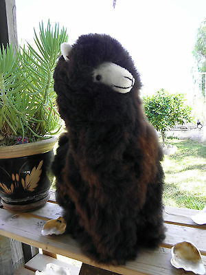 "New Handmade By Our Artisan In Peru 18 - 19"" Standing Plush Alpaca #32001"