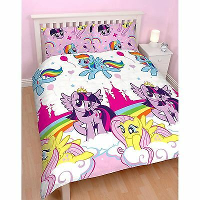 Official My Little Pony Equestria Double Duvet Cover Set Kids Bedding Girls