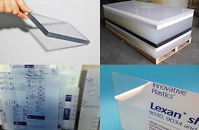 """Clear Lexan Polycarbonate sheet 1/8"""" x 24"""" x 36"""" (.125"""" Thickness)"""