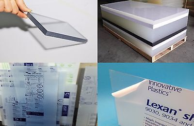 """Clear Lexan Polycarbonate sheet 3/8"""" x 48"""" x 48"""" (.375"""" Thickness)"""