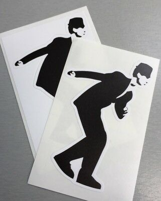 2 Unused Vinyl Stickers 2tone selecter iPad skinhead specials madness ska dancer