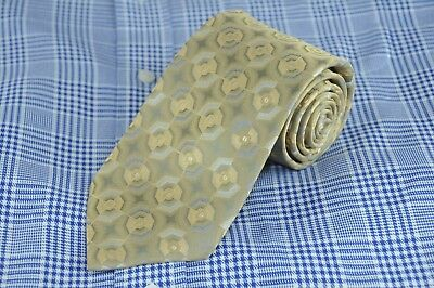 Arrow Men's Tie Gold & Gray Geometric Silk Necktie 58 x 3.5 in. NEW