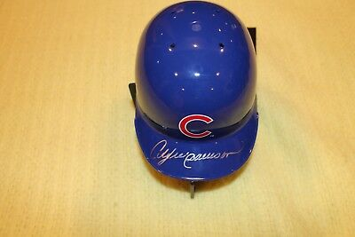 """Andre Dawson Signed """"PERFECT"""" Chicago Cubs Mini Helmet/Montreal Expos"""