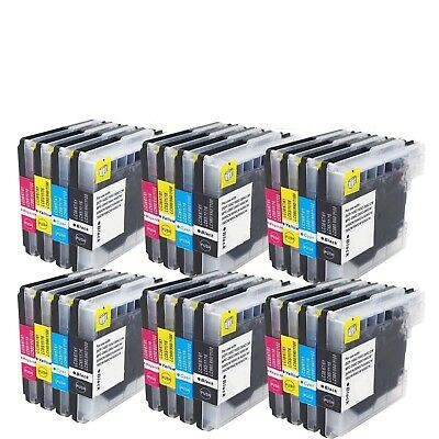 24PK LC61 LC-61 Ink For Brother MFC-250C MFC-255CW MFC-290C MFC- 295CN MFC-490CW