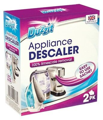 Descaler Limescale Removal Kettle Iron Coffee Maker Shower Head Descaling 2 Pack