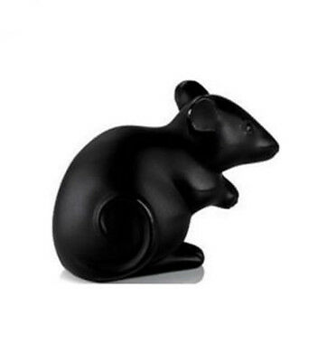 LALIQUE Mouse Black 10055900 FREE DELIVERY