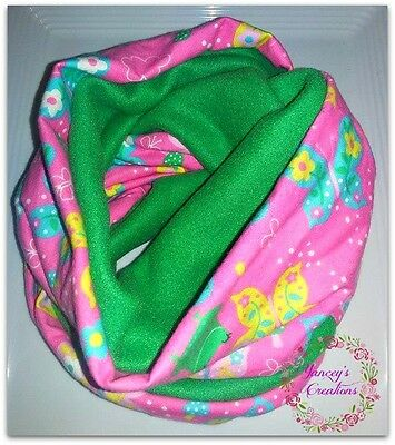 Handcrafted toddler and girls infinity scarf winter spring sz 2-6yrs
