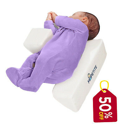 Infant Sleep Positioner Wedge Pillow | Memory Foam Support for Sleeping Babies