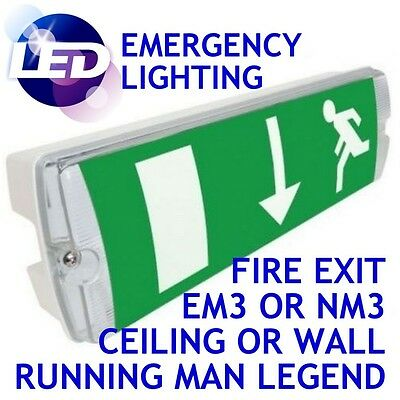 LED Emergency Lighting Exit Sign & Bulkhead Maintained Non Maintained Light nm3