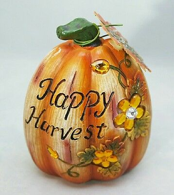 Pumpkin Happy Harvest Fall Harvest Thanksgiving Table Decor Centerpiece Gift