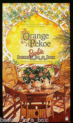 Orange Pekoe Victorian Tea Porcelain Barbie Doll COA ~ NRFB