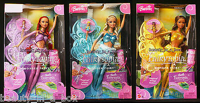 Fairytopia Wonder Fairy Barbie Doll Lenara Joybelle KindLee AA African Lot 3 D