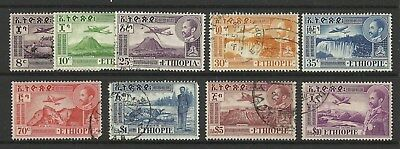 Ethiopia 1947 Air Mail Part Set With The $10 Used