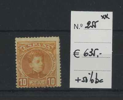 Alfonso Xiii - Tipo Cadete 255 ** Mnh
