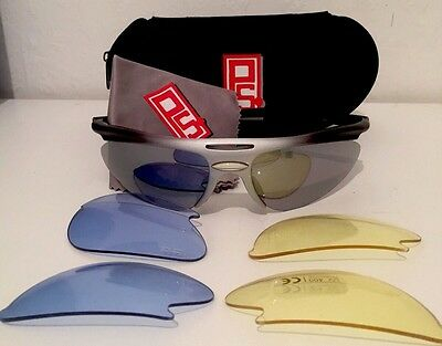 PS Pro Cricket Sun Glasses 3 sets of lenses with case and cleaning cloth