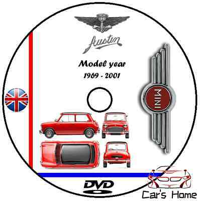 MANUALE OFFICINA AUSTIN MINI my 1969 - 2001 WORKSHOP MANUAL DVD