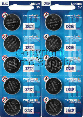 10 CR 2032 Renata Lithium Watch Batteries FREE SHIP