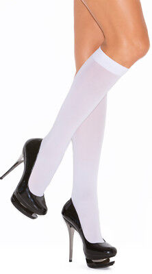 Queen Size Womens Plus Size Opaque Knee Highs, Plus Size Opaque Stockings
