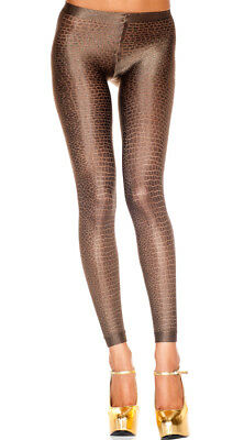 One Size Fits Most Womens Snakeskin Leggings