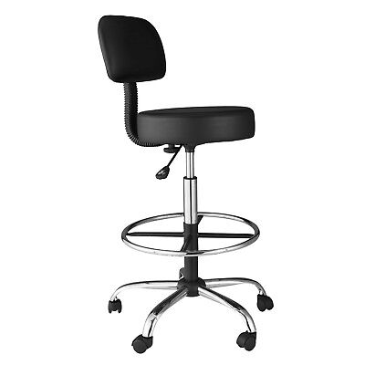 Comfort Products Medical/Drafting Stool With Back Cushion