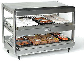 "NEMCO SLANTED, DUAL SHELF, 36"", STAINLESS Model 6480-36S"