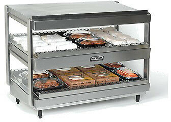 "NEMCO HORIZONTAL, DUAL SHELF, 24"", STAINLESS Model 6480-24"